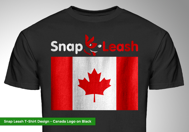 Snap leash t shirts lavergne media for Snap t shirt printing